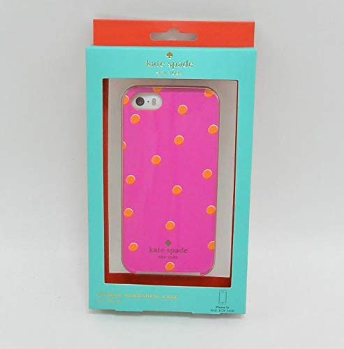Kate Spade New York - Scatter Pavilion Hybrid Hard Shell Case for Apple Iphone 5 and 5s - Pink/orange