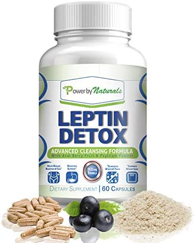 Power By Naturals - Leptin Detox - Advanced Colon Cleanser - Flush Excess Waste and Toxin - Gas, Constipation, Bloating Relief, Super Cleanse for Weight Loss for Women and Men - Vegan - 60 Diet Pills 3