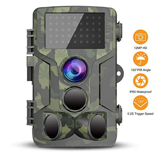 FHDCAM Trail Game Camera, 1080P HD Scouting Cam, 120° Wide Angle PIR Sensor Motion Activated Night Vision, Waterproof Game Camera for Wildlife Hunting and Home Video Surveillance [2019 Latest]