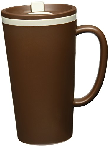 Copco Cone Double-Wall Desk Mug, 16-Ounce, Brown