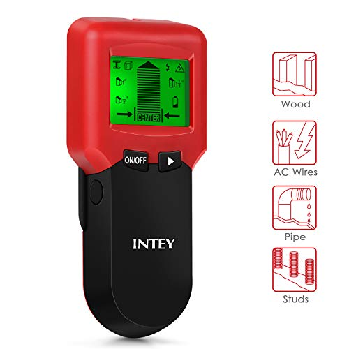 INTEY Stud Detector Electric Cable Detector AC Wire Detector Stud Finder for Walls 3 in 1 Wood Wall Scanner with Center Finding Metal Stud Sensor