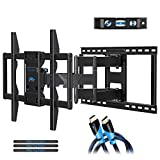 Mounting Dream Full Motion TV Wall Mounts Bracket TV Mount Fits 16, 18, 24 inch Wood Stud Spacing, Premium TV Bracket with Articulating Arm for 42-75 Inch TV up to VESA 600x400mm, 132 lbs MD2298