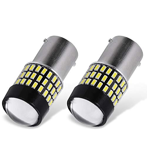 YITAMOTOR 2x 1156 1141 1003 LED White Light Bulbs, 1700 Lumens 78-SMD Super Bright, BA15S 7506 LED Replacement Bulb for RV Reverse Backup Tail Light, 6500K White, 12v-24v