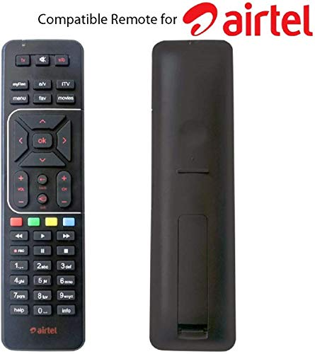 SimplyFab™ Universal Remote Control Compatible for AirTel Digital DTH Set-Top Box HD & SD with Recording Feature 191