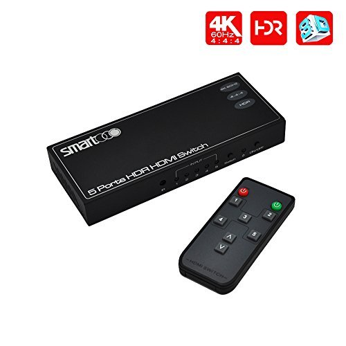 SMARTOOO 23051 4K@60Hz HDMI 2.0 HDMI Switcher...