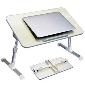 Adjustable Laptop Bed Table, Portable Standing Desk, Foldable Sofa Breakfast Tray, Notebook Stand Reading Holder Floor for Couch Kids - Neetto TB101