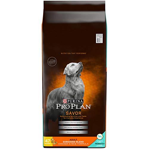 Purina Pro Plan With Probiotics Dry Dog Food; SAVOR Shredded Blend Chicken & Rice Formula - 47 lb. Bag