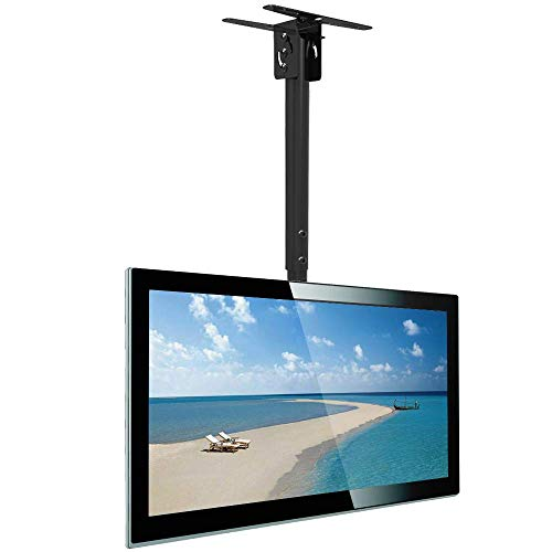 Everstone Full Motion TV Ceiling Mount for 23 to 55' TV Swivel and Tilting Bracket Fit Most Plasma LED LCD Flat Screen and Curved TVs, Up to VESA 400x400mm, HDMI Cable and Level