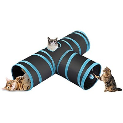 CO-Z Collapsible Cat Tunnel Tube Kitty Tunnel Bored Cat Pet Toys...