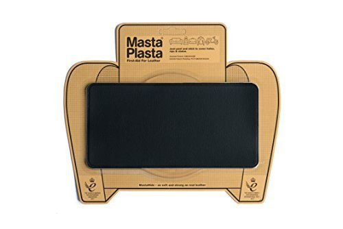MastaPlasta Self-Adhesive Patch for Leather and Vinyl Repair, Large, Black - 8 x 4 Inch - Multiple Colors Available