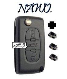 Coque-plip-3-boutons-PEUGEOT-107-207-307-308-407-Citroen-C1-C2-C3-C4-C5-C8-Evasion-modle-CE0523-Pile-sur-circuit-3-boutons-switchs--souder