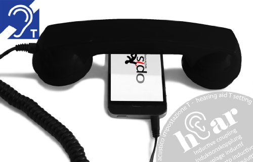 Opis Technology OPIS 60s MICRO hEar: Retro Handset for use with mobile phone and hearing aid (black). Comes in various colors. When you want a regular handset for your smartphone. A fun gift as well.