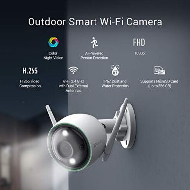 EZVIZ-Outdoor-Security-Camera-Color-Night-Vision-1080P-AI-Powered-Person-Detection-H265-IP67-Waterproof-Customizable-Detection-Zones-24GHz-WiFi-Supports-MicroSD-Card-up-to-256GBC3N