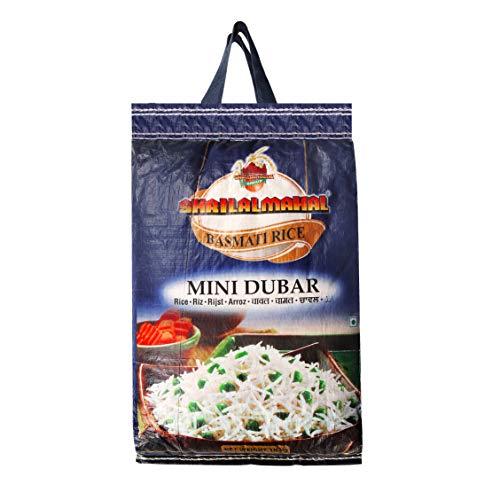 SHRILALMAHAL Basmati Rice, Mini Dubar, 10 Kg| Finest Quality Aged Basmati Rice