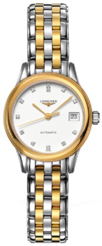 4149QGy%2B8hL Two-tone stainless steel case. Two-tone stainless steel bracelet. White dial.