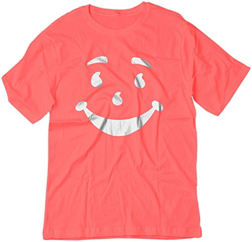 BSW Youth Kool-Aid Man Smiley Face Oh Yeah! Juice Shirt XL Pink