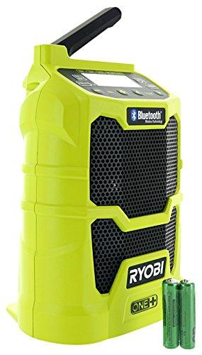 Ryobi P742 One+ 18V Lithium Ion Cordless Compact AM / FM Radio