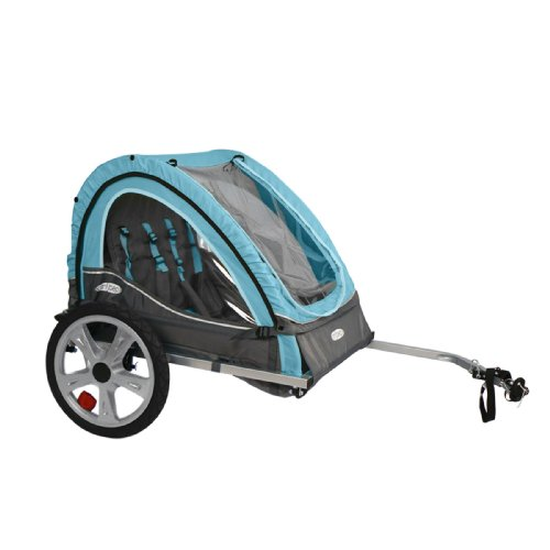 Instep Take 2 Kids/Child Bicycle Trailer, Blue Grey Foldable 2 Passengers
