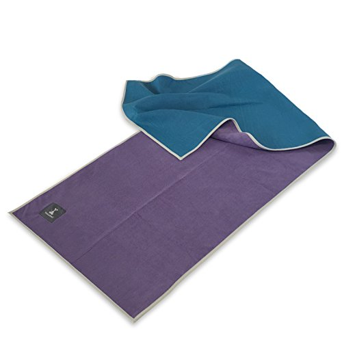 YogaRat Gummy Grip Yoga Towels - Smooth...