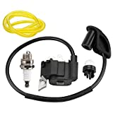 Leopop 291424001 Ignition Coil Module for Ryobi RY08420 RY08420A BP42 Backpack Blower Homelite Parts with Fuel Line Primer Bulb Spark Plug
