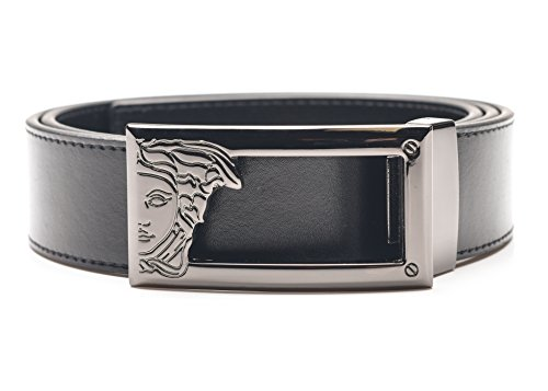 "414HI0wdpWL Versace Collection Signtature Design & Superior Quality Belts run small, order two sizes up. Ex: for a 32"" waist order a size 36. Stainless Steel Buckle - Geuine Leather"