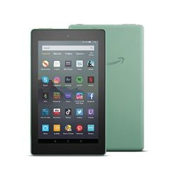 Fire 7 Tablet | 7″ display, 16 GB, Sage with Special Offers