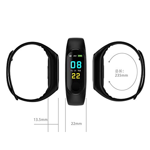 N ZGZRONG Blue Fitness Tracker, Health Tracker Color Screen Sport Smart Watch,Activity Tracker with Heart Rate Blood… 2