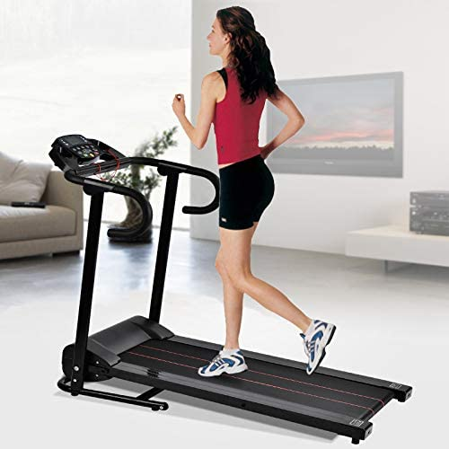 Murtisol 1100W Folding Treadmill Good for Home/Apartment Fitness Compact Electric Running Exercise Machine with Safe Handlebar 7