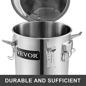 VEVOR-Moonshine-Still-5-Gal-21L-Stainless-Steel-Water-Alcohol-Distiller-Copper-Tube-Home-Brewing-Kit-Build-in-Thermometer-for-DIY-Whisky-Wine-Brandy-5Gal-Silver