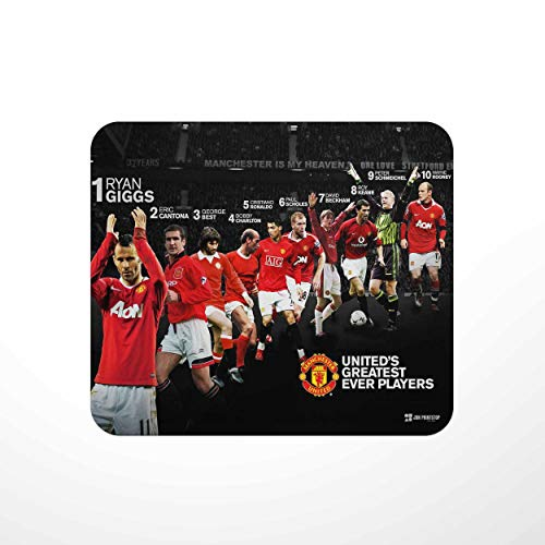 Jbn 'Manchester United Legends' | Premium Gaming Mousepad | Anti-Slip Rubber Base | Designer Mouse Pad | Anti Skid Technology Mouse Pad for Laptops and Computers | Pack of 1 [Free DELIVERY]