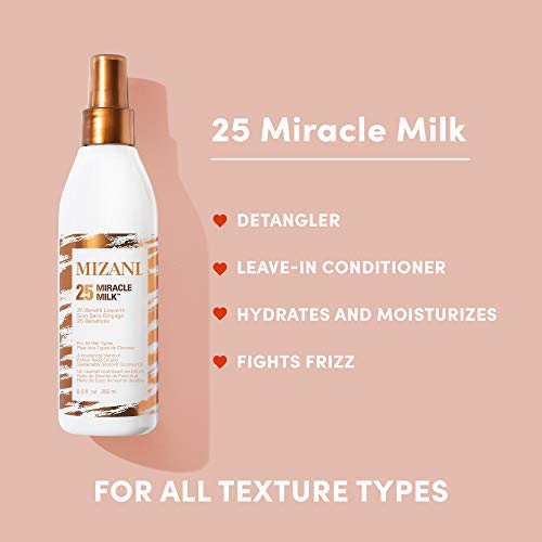 MIZANI 25 Miracle Milk Leave-In Conditioner | Leave in Heat Protectant Spray to Detangle & Hydrate Hair | For Curly Hair 2