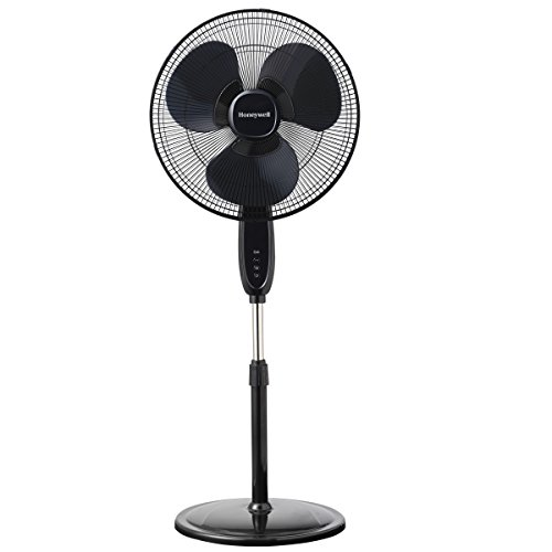 Honeywell-Double-Blade-16-Pedestal-Fan-Black-With-Remote-Control-Oscillation-Auto-Off-3-Power-Settings