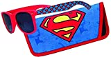 Sunglasses with Coordinating Soft Sunglass Case (Superman Logo, Black)