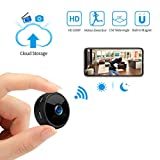 Mini Spy Camera Wireless Hidden Camera WiFi JOYTRIP HD 1080P for Home Security Portable Nanny Cams with Cell Phone APP/Cloud Storage/Motion Detection/Night Vision for iOS/Android (Upgraded-A11pro)