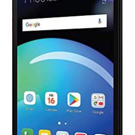 LG Phoenix 4 AT&T Prepaid Smartphone with 16GB, 4G LTE, Android 7.1 OS, 8MP + 5MP Cameras – Black