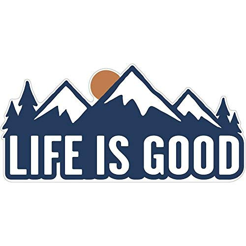 Life is Good. Die Cut Sticker - LIG Mountains - Darkest Blue