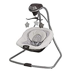 Graco's Simple Sway proves that great things come in small packages. This smart swing has tons of features to help you soothe and comfort baby, all packed into a compact frame design. It's easy to keep baby close wherever you are at home! You'll have...