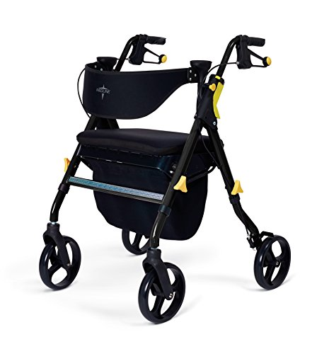 Medline Premium Empower Folding Rollator Walker with 8' Wheels.