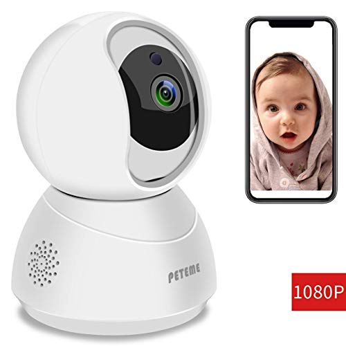 Baby Monitor, Peteme 1080P WiFi Baby Monitor with Camera and Audio 2-Way Audio with Night Vision Cloud Service Available… 1