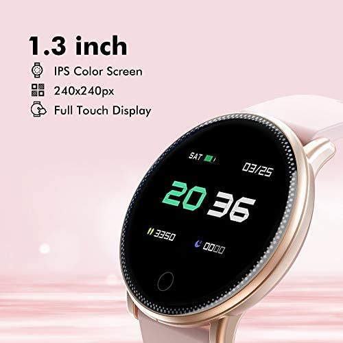 Smart Watch for Android and iOS Phone 2019 Version IP67 Waterproof,UMIDIGI Fitness Tracker Watch with Pedometer Heart Rate Monitor Sleep Tracker,Smartwatch Compatible with iPhone Samsung 4