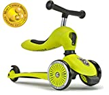 Scoot & Ride 2-in-1 Bike & Kick Scooter Combo for Children Ages 1-5 Years Old (Lime)