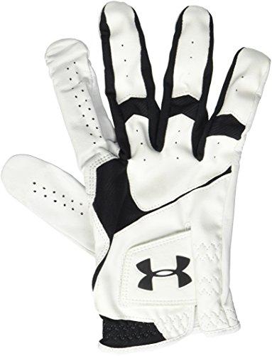 Under Armour Men's CoolSwitch Golf Glove, White (100)/Black, Left Hand Medium Large Cadet