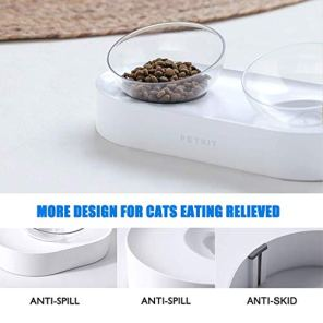 PETKIT-Elevated-Cat-Bowl-with-Stand-Stress-Free-15-Transparent-Tilted-Raised-Pet-Feeding-Bowl-for-Cat-and-Small-Dog-Food-Grade-Material-Nonslip-No-Spill-Pet-Food-Bowl-Dishwasher-Safe