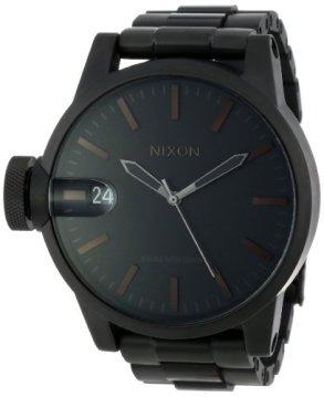 Nixon Men's A1981061 Chronicle SS Analog Display Swiss Quartz Black Watch
