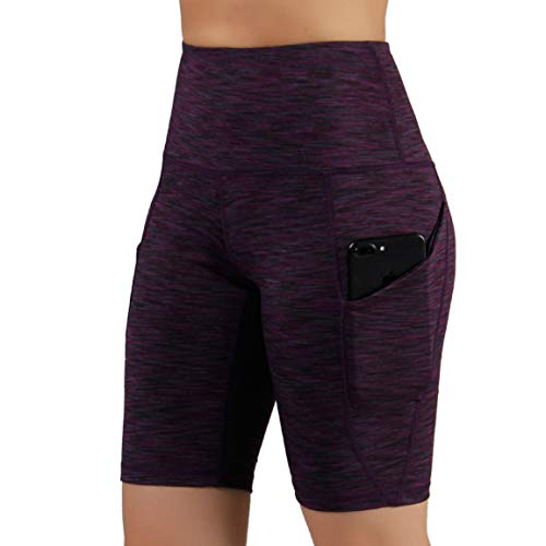 ODODOS High Waist Out Pocket Yoga Short Tummy Control Workout Running Athletic Non See-Through Yoga Shorts 17 Fashion Online Shop gifts for her gifts for him womens full figure