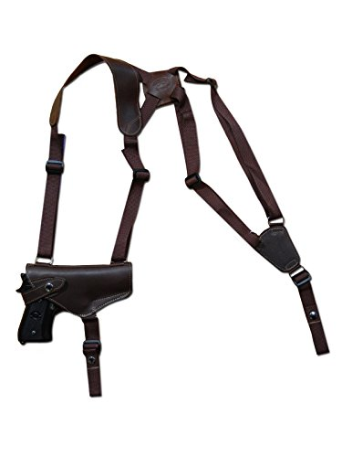 Barsony New Horizontal Brown Leather Shoulder Holster for Beretta PX4 Storm Right