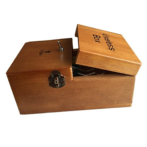 Useless Box Turns Itself Off Storage Box Leave Me Alone Machine Fully Assembled in Real Wood