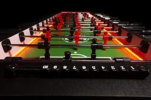 Warrior Table Soccer 8 Man Foosball Table W/LEDs