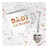 Gifts for Dad -Dad's Ice Cream Bowl and Engraved Spoon Dad's Ice Cream Shovel - Ideal Father's Day Gift, Christmas Gift or Birthday Gift by Josephine on Caffeine