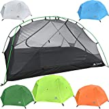 Hyke & Byke 2 Person Backpacking Tent with Footprint - Lightweight Zion Two Man 3 Season Ultralight, Waterproof, Ultra Compact 2p Freestanding Backpack Tents for Camping and Hiking (Lime Green)